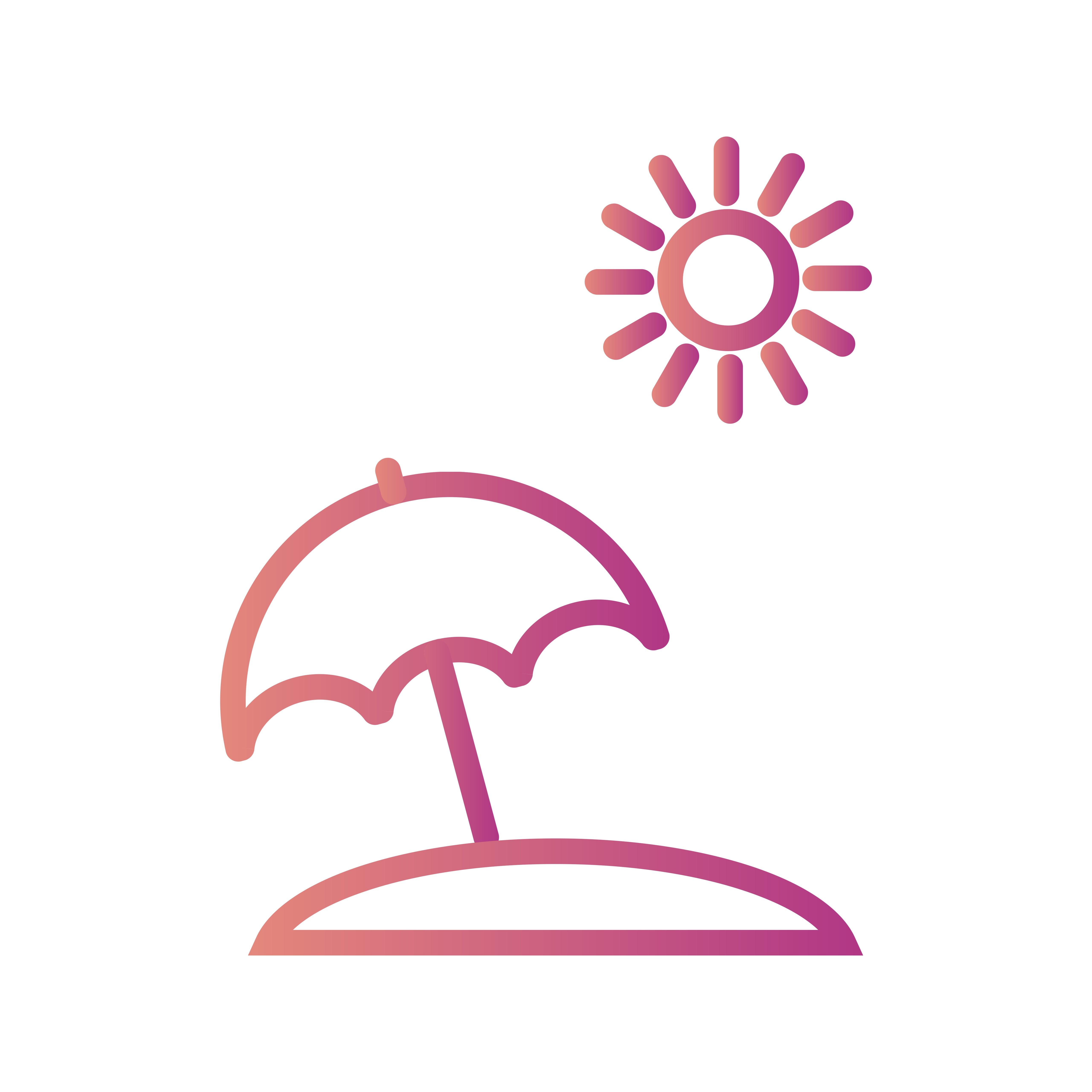Beach Umbrella Vector Icon - Download Free Vectors ...