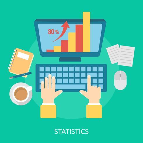 Statistiques Illustration conceptuelle Conception