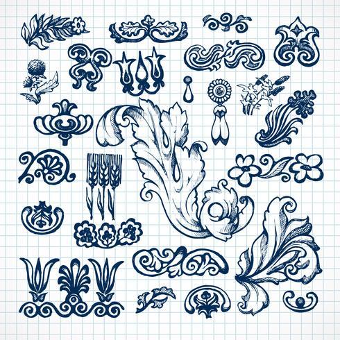 Bladeren schets set