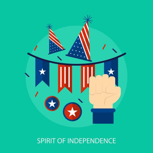 Spirit Of Independence Conceptual illustration Design