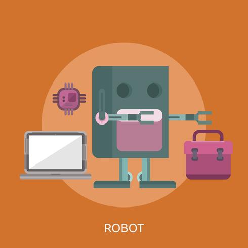 Robot Conceptual Ilustración Diseño