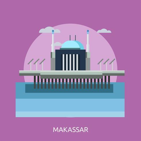 Makassar Conceptual illustration Design vector