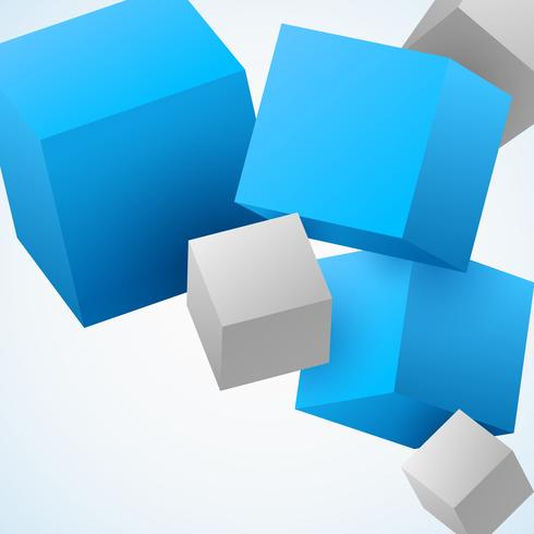 Abstrait 3d cubes