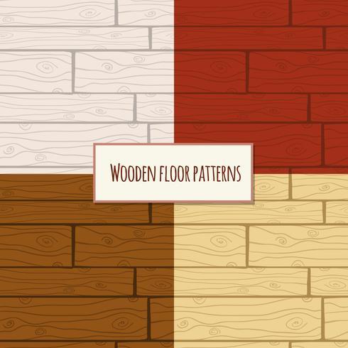 Houten vloer naadloos patroon vector