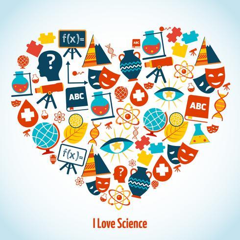 Concepto de corazón de educación