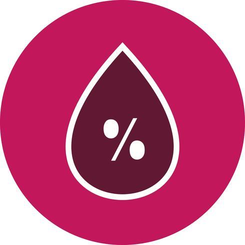 Icona del Vetore dell'umidità