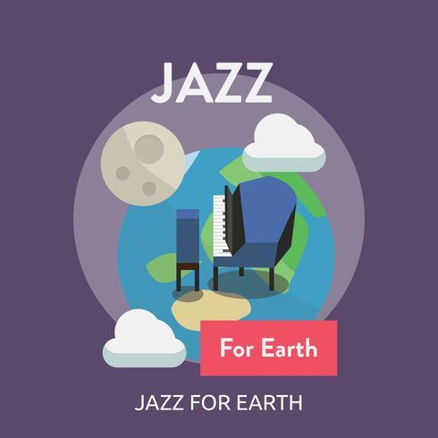Jazz voor aarde Conceptuele afbeelding ontwerp vector