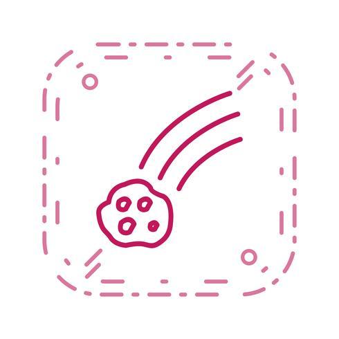 Fallende Meteorit-Vektor-Ikone