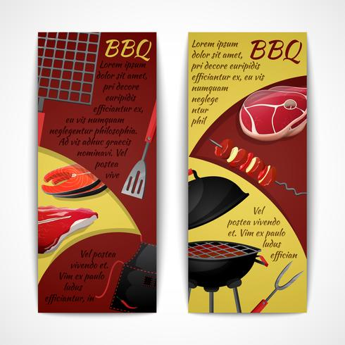 Bbq banners set vector