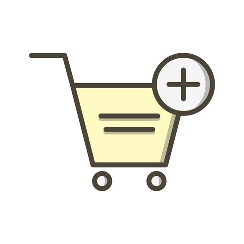 Vector toevoegen aan winkelwagen Vector pictogram