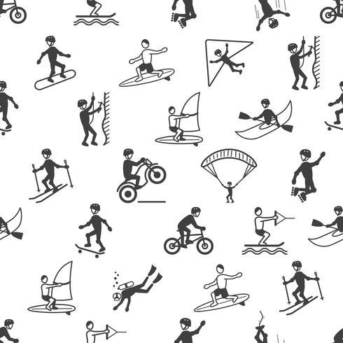Extreem sporten naadloos patroon