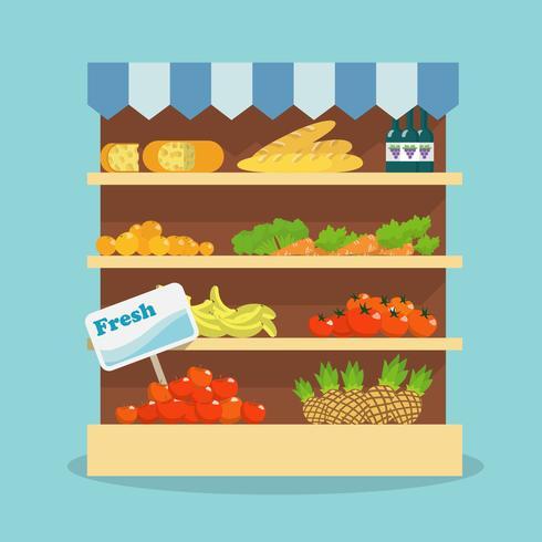 Supermarkt voedselverzameling