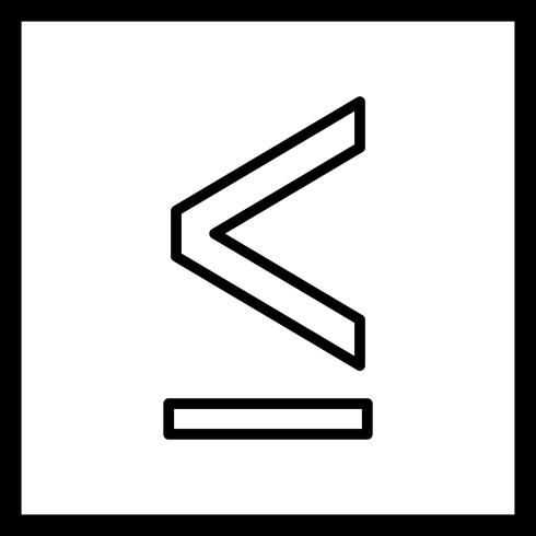 Lessthen Vector Icon
