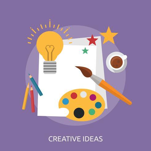 Creatieve ideeën Conceptuele afbeelding ontwerp