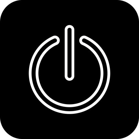 Icono de Vector de apagado