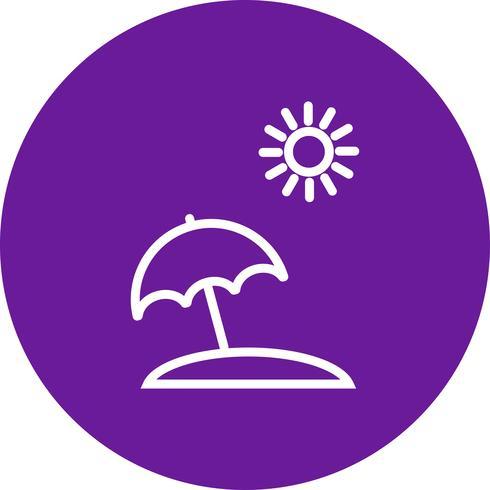 Strand paraplu Vector Icon