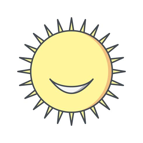 Sun smiling Vector Icon