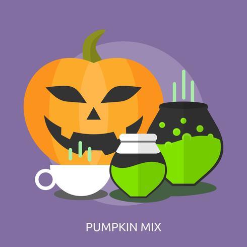 Pumpkin Mix Konceptuell Illustration Design vektor