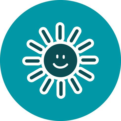 Sun smiling Vector Icon