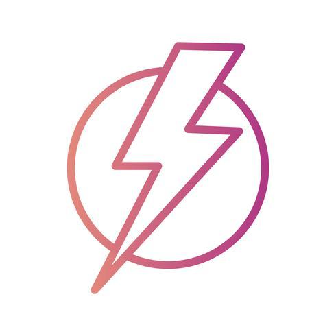 Icône de vecteur de choc électrique