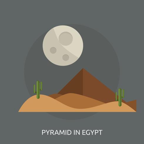 Piramide nella progettazione concettuale dell'illustrazione dell'Egitto vettore