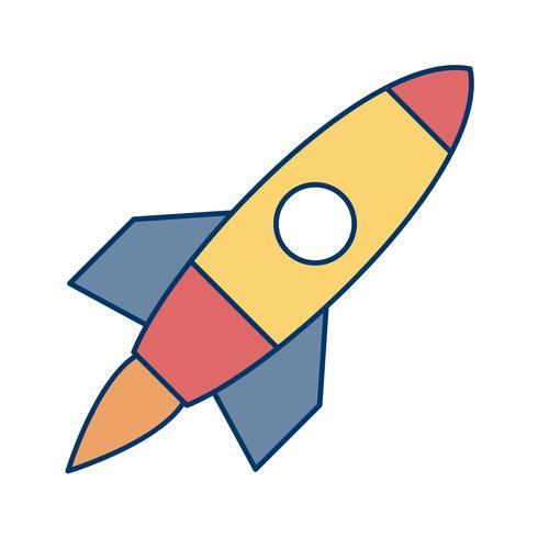 Icono de Vector de nave espacial