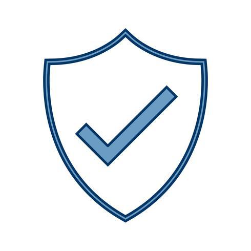 Ícone de escudo de vetor