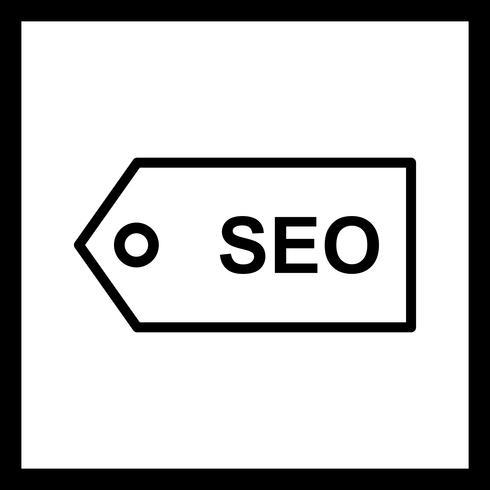 vector seo labelpictogram