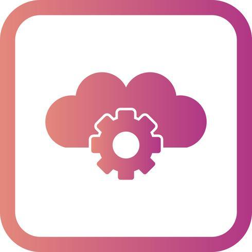 Vector wolk instellingen pictogram