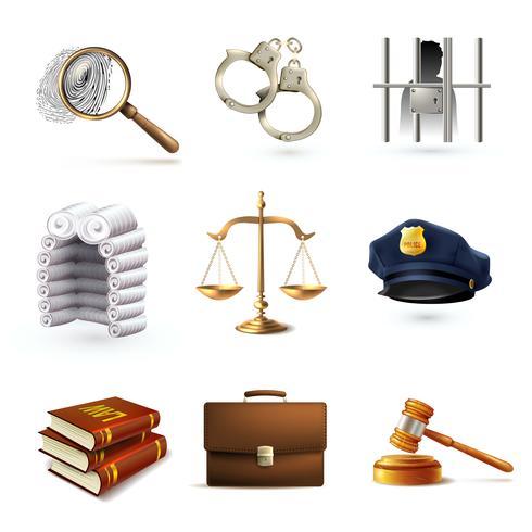 Conjunto de ícones legais de direito