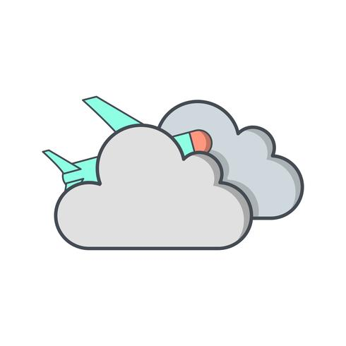 Flache Wolke Vektor Icon