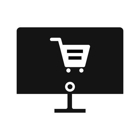 vektor online shopping ikon