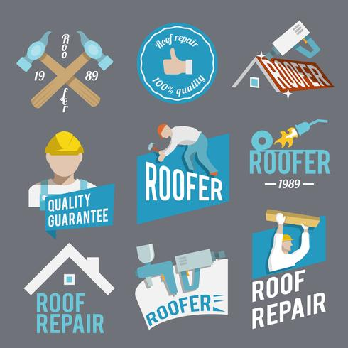 Roofer label set
