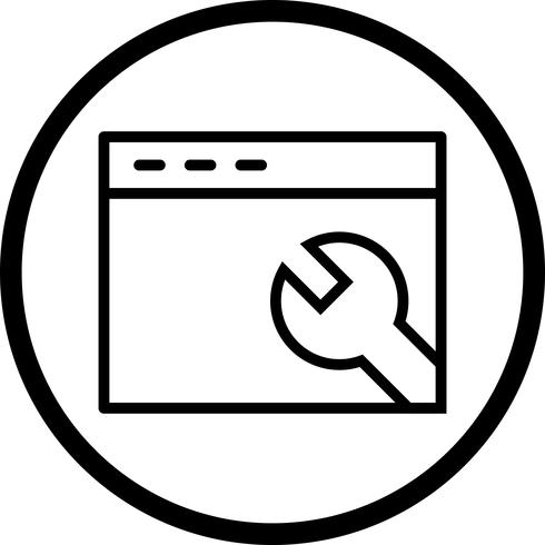 Vector Browser Settings Icon