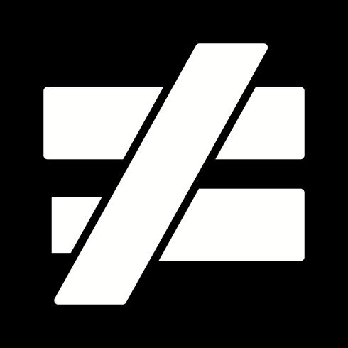 NotEqualTo Vector-pictogram