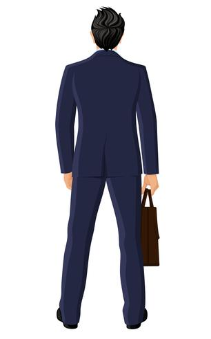 Businessman back view