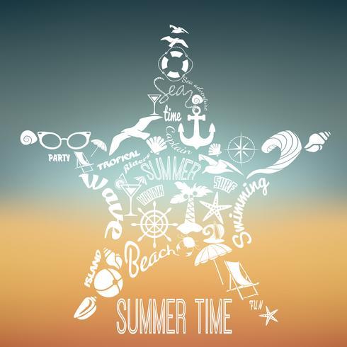 Conceito de férias de verão vetor