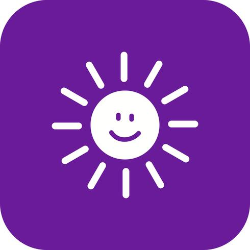 Sun lächelnde Vektor-Ikone
