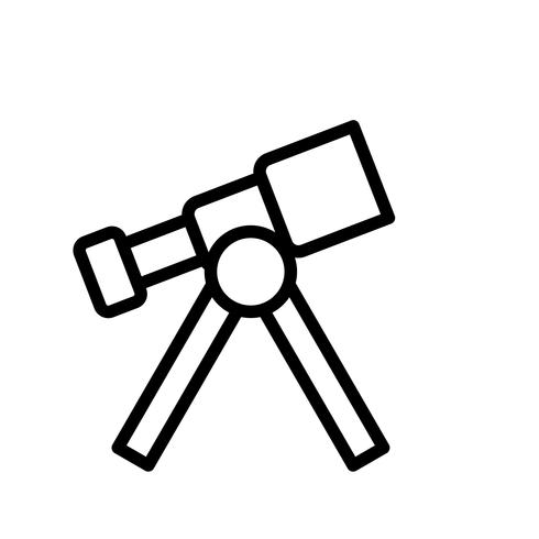 Icône de vecteur de télescope
