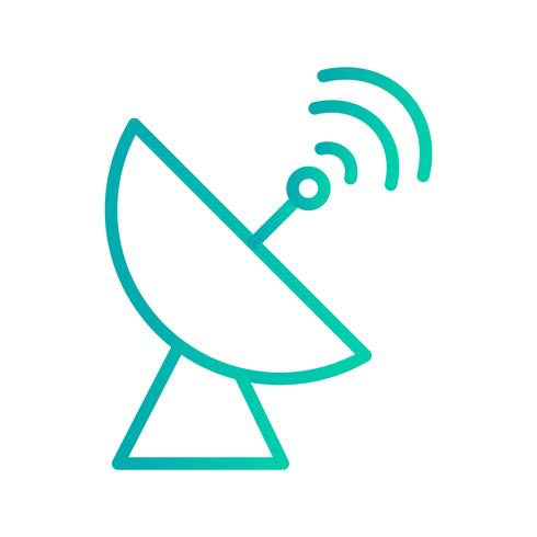 Icono de Vector de plato de satélite
