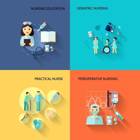 Enfermeira, ícone, jogo, apartamento