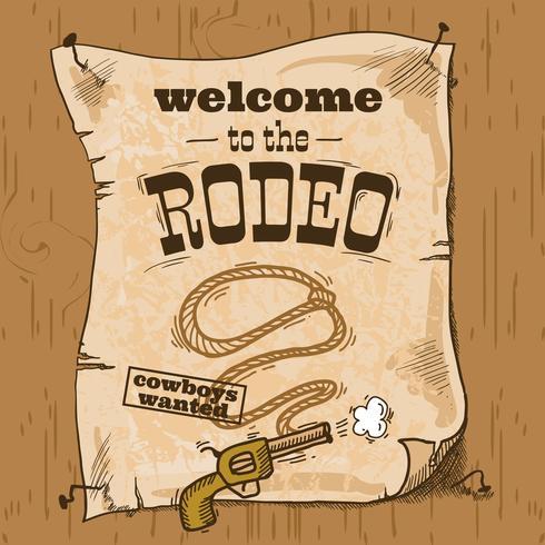 cartel retro rodeo