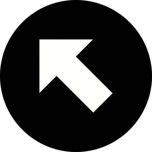 Vänster upp vektor ikon