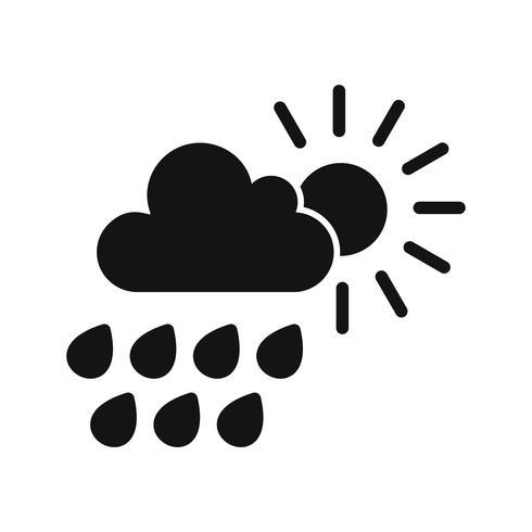 Icône de vecteur de pluie d'été