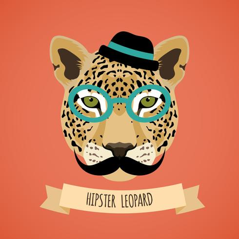 Portrait de hipster animal