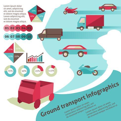 Infographie de transport terrestre vecteur