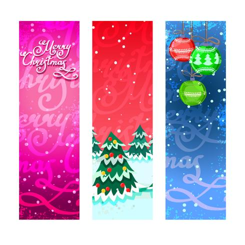Banners de Natal verticais vetor