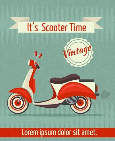 cartel retro scooter vector