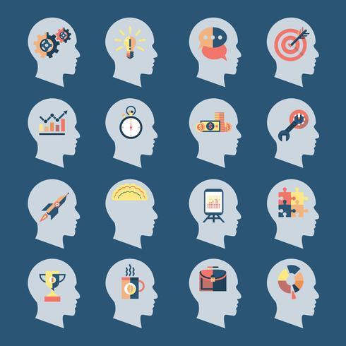 Idea Head Icons vector