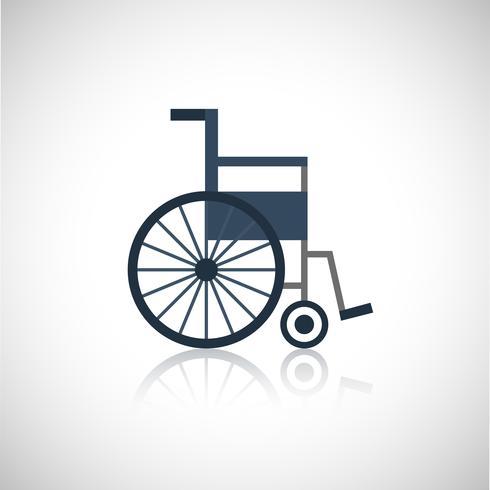 Icône de fauteuil roulant à plat